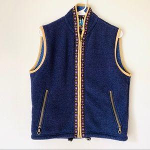 KUHL Alf Navy Aztec Tribal Fleece Polartec Vest
